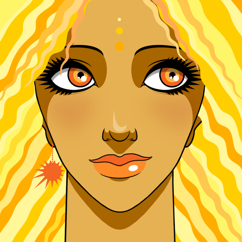 Woman Sun Avatar Astral Beauty  - Eleatell / Pixabay